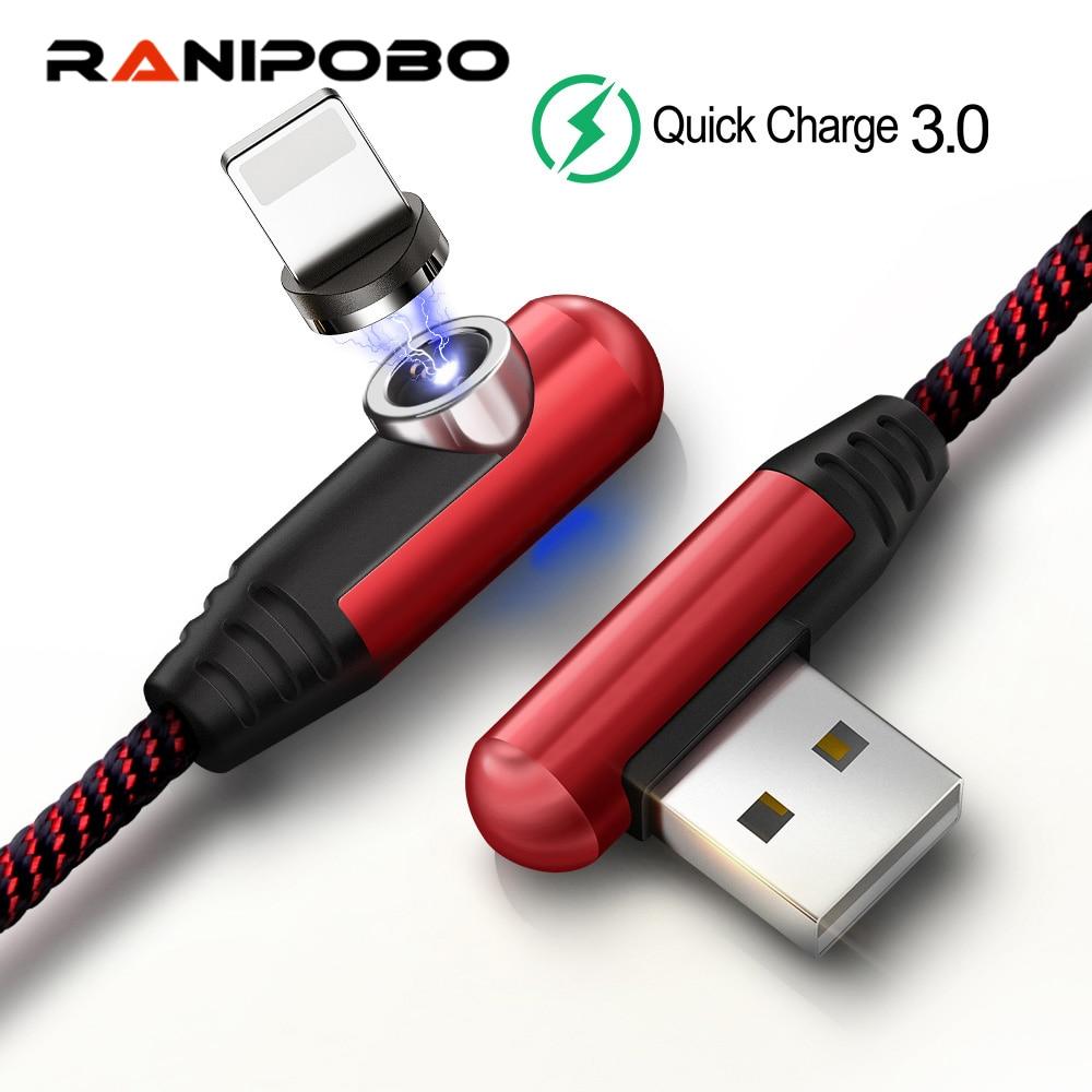 90 градусов Магнитный кабель 2 м 1 м Micro Usb кабель Usb Type c 3A Быстрая зарядка шнур для Samsung USB C магнитное зарядное устройство