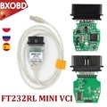 Диагностический кабель V15.00.028 MINI VCI J2534 OBD2 TIS Techstream, мини VCI FT232RL OBD2 сканер, интерфейс MINI VCI