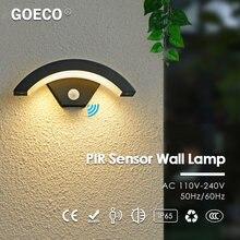 24w светодиодный Индукционная Уличный настенный светильник Сенсор/pir