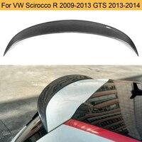 Carbon Fiber Rear Roof Spoiler Wing for Volkswagen VW Scirocco R 2009 2013 Scirocco GTS 2013 2014 Non Standard