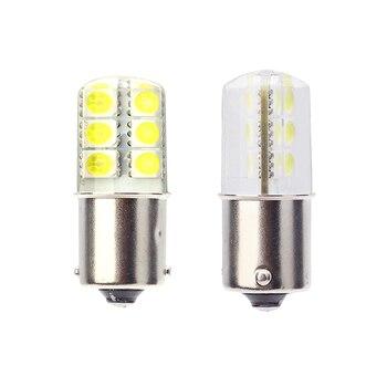 2018 newest led 1156 p21w ba15s led car light Silica gel smd COB automobile vehicle motorcylce brake tail park lamp 6