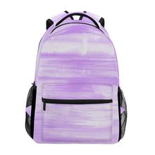 ALAZA bag womens purple Backpack Travel Bag Leisure Printing Women Big Capacity Student Schoolbag Laptop For girl Gift