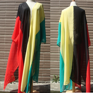 Image 5 - 2020 Chiffon Beach Cover Up Jurk Robe De Plage Badpak Cover Ups Pareos De Playa Mujer Bikini Cover Up beachwear Tuniek
