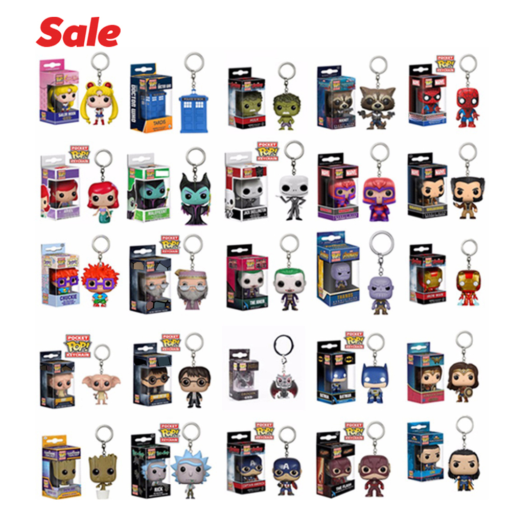 FUNKO POP Stranger Things MARVEL FLASH CHUCKIE  Dragon Ball Super Hero Jack Action Figure Collectible Model Keychain With Box
