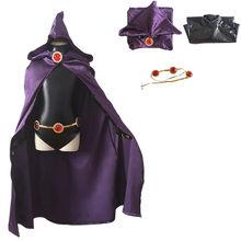 Costume de Cosplay pour adolescents, Anime titan Raven pour enfants garçons filles, combinaisons cape, uniforme Zentai, ensemble complet