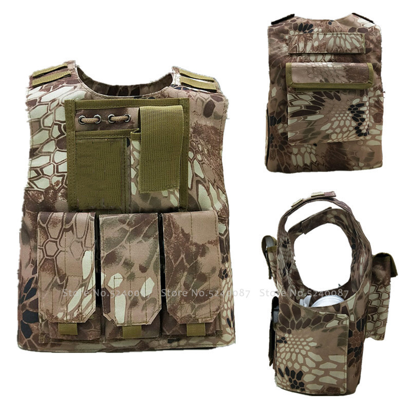 Children Tactical Bulletproof Vest Army Soldier Cosplay Costume Kids Combat Armor Camouflage Military Uniform Special Forces Top image