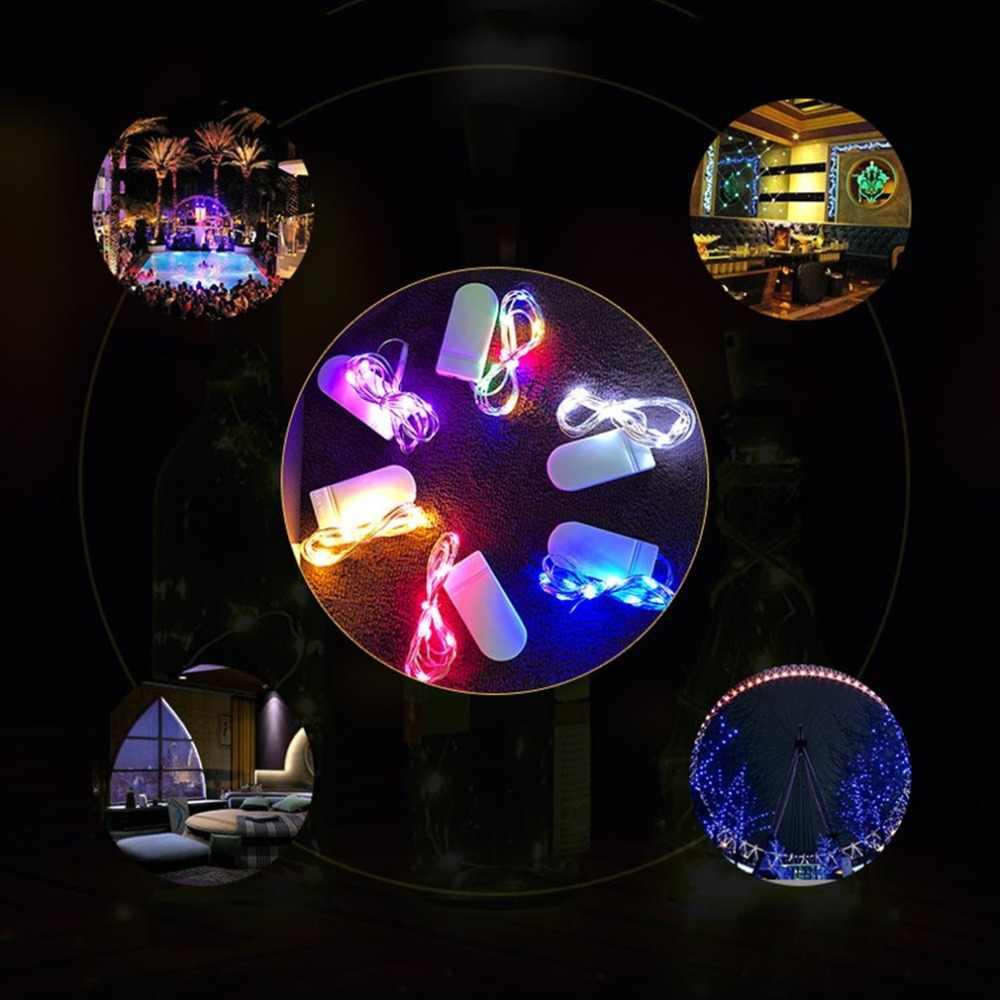 2M Dây Đồng Dây 2032 Box Hoa Trang Trí Bánh Đèn Pin Nút Hộp Đồng Dây Đèn LED dây