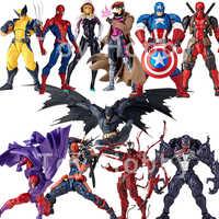 Marvel DC Yamaguchi Revoltech Gambit Deathstroke Wolverine Venom Captain America Batman Gwen Spinne Mann Magneto Action Figur