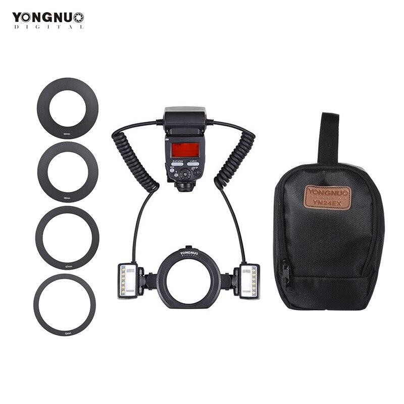 永諾 YN24EX E TTL フラッシュスピードライト 5600 18K 2 個フラッシュヘッドと 4 個とキヤノン EOS 用 1Dx 5D3 6D 7D 70D カメラ  グループ上の 家電製品 からの 点滅 の中 1