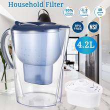 4.2L Activated Carbon Net Kettle Water Filter Purifier Ionizer Generator for Health Kitchen Home Office Filters Pitcher