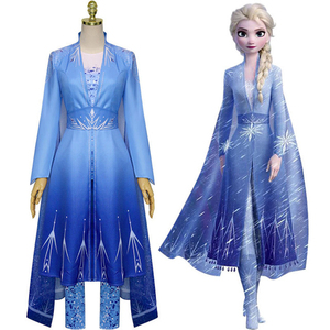 Костюм для взрослых из мультфильма «Холодное сердце»; 2 костюма; взрослая Эльза; снежное и ледяное платье принцессы Эльзы; парадный костюм п...