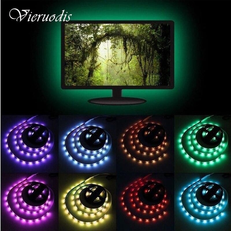 2M LED Strip 3528SMD Tape Ribbon Light 12V Fita Diode Flexible LED String Stripe Bar Neon LED Lamp For TV Backlight