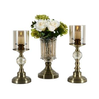 Decorative Luxury Creative Simple Candle Holders Glass Modern Romantic Flower Centerpiece Candlesticks Nordic Home Decor II50ZT