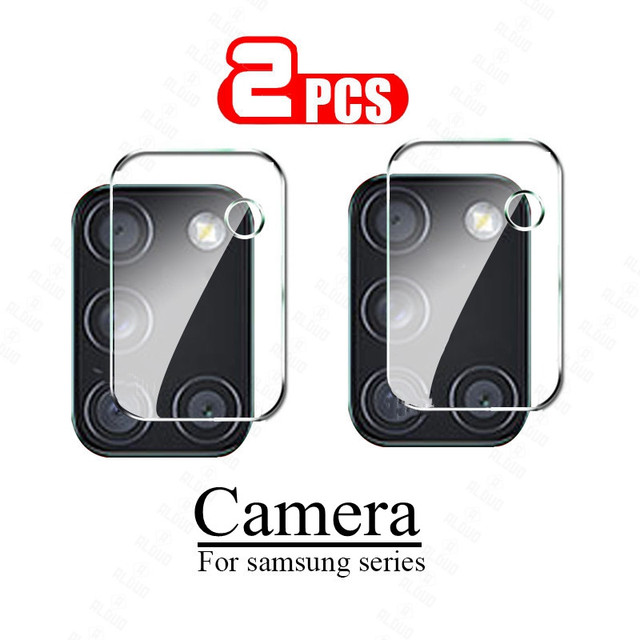 2pcs Camera Lens Glass for Samsung Galaxy A51 A71 Note 20 S20 Ultra Plus S20+ A31 A21S M31 A02 A12 S21 Screen Protector S20 Fe 1