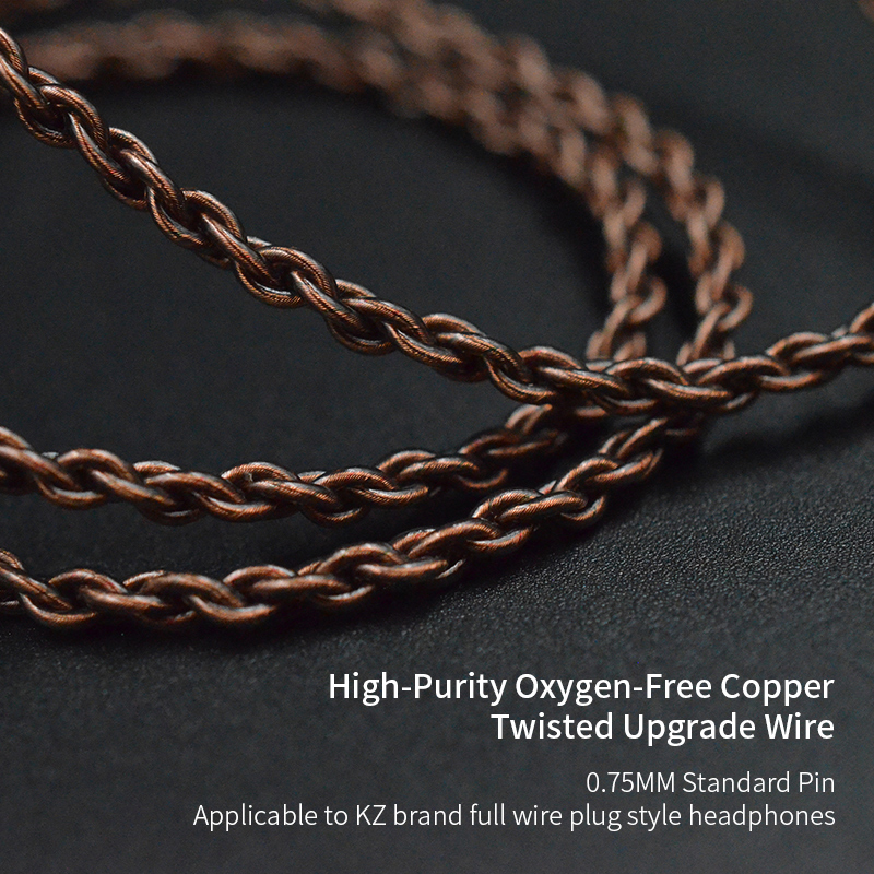 KZ ZSN ZS10 PRO Original Cable High-Purity Oxygen-Free Copper Upgraded Cable KZ ZS5/ZS6/ZSA/ED16/ ZSN/ZST/ZS10/AS10/AS12/AS16