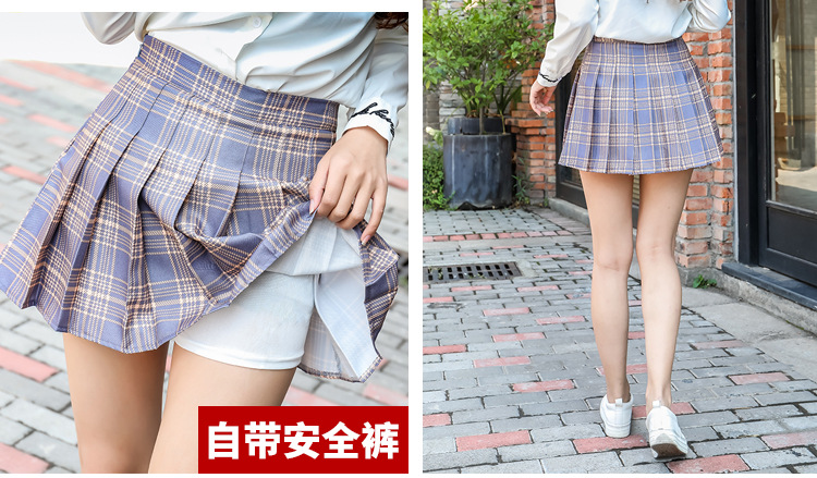 Harajuku Short Skirt New Korean Plaid Skirts Women Zipper High Waist School Girl Pleated Plaid Skirt Sexy Mini Skirt Plus Size 17