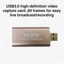 USB 3.0 Audio Video Capture Card HD HDMI-compatible 1080P Acquisition Card for Computer Electronic Machine Accessories