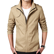 M-4XL Spring and Autumn Mens Collar Jacket Casual Coat/Large size Fashion Wear