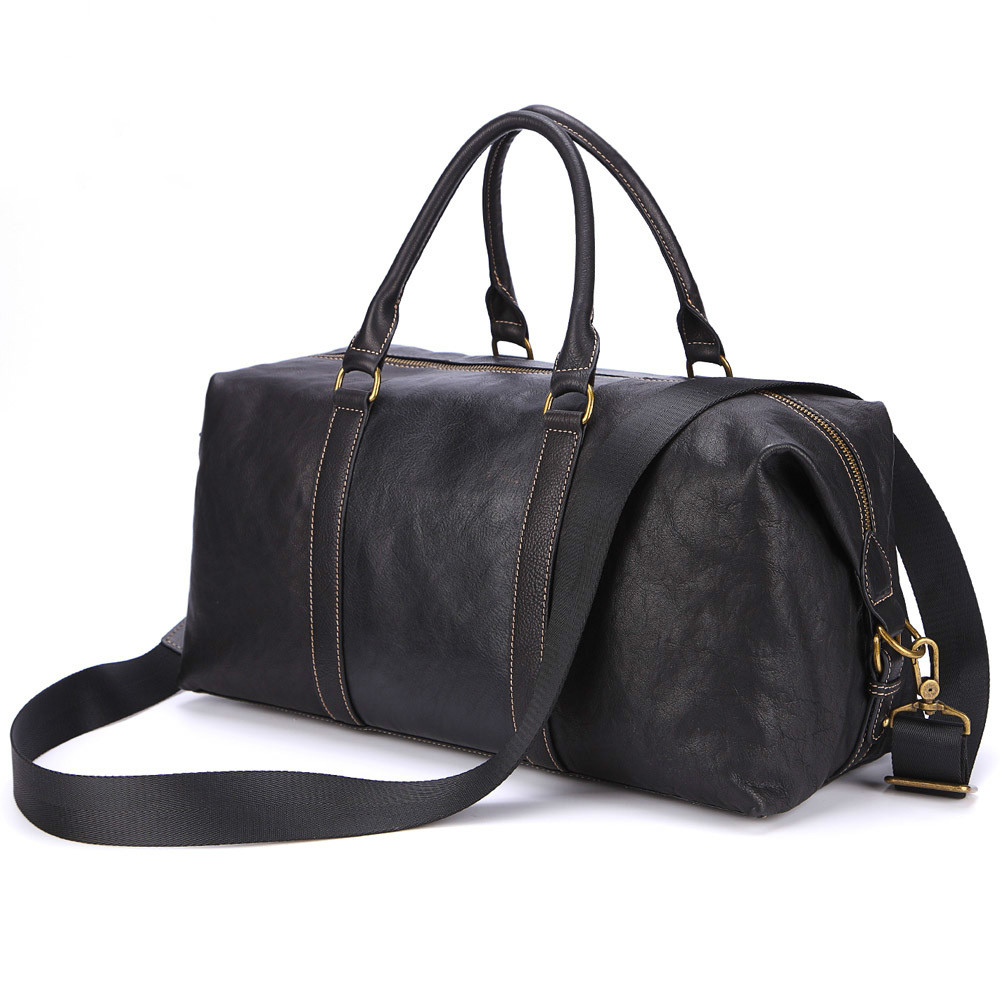 New Portable Travel Bag Large-capacity One-shoulder Cross Body Three-purpose Cow Leather Business Travel Bag