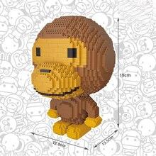 hot LegoINGlys creators classic Game Cartoon Image Monkey mini Micro Diamond Building Blocks model bricks toys for children gift