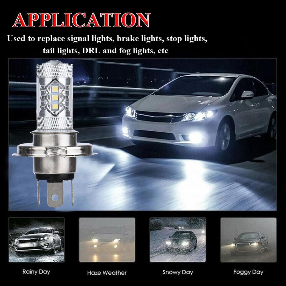 OLOMM  2PCS H4 9003 HB2 Car LED Headlight 80W Fog Lights Conversion Kit LED Lamps/Light Bulbs For Cars High/Low Beam 6000K