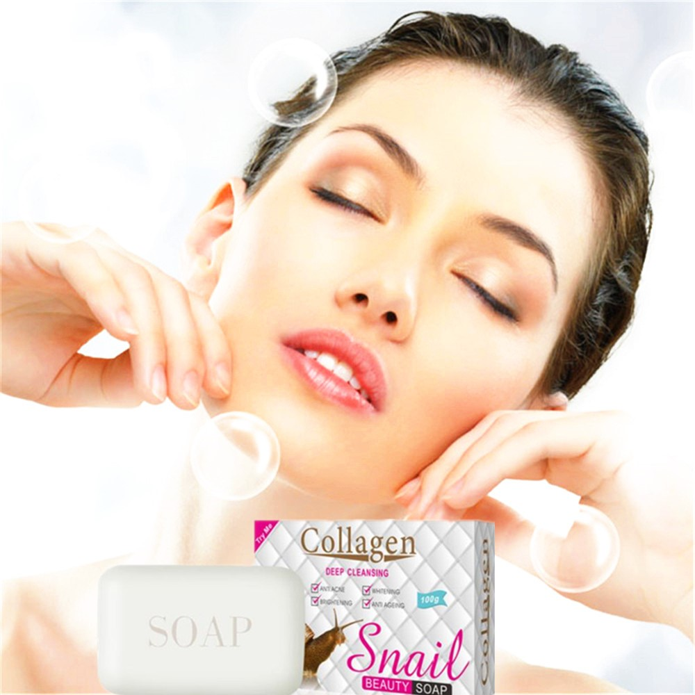 Snail Cleaning Facial Washing Soap Degreasing Facial Deep Cleaning Makeup Removal White Soap Removing Blackheads To Prevent Acne