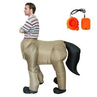 Halloween Costume for Adult MenInflatable Animal Dinosaur Centaurus Inflatable Horse Body Human Face Cosplay Fancy Party Dress