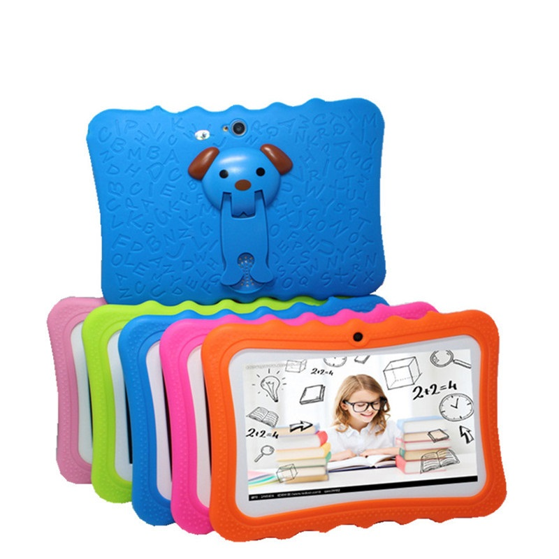 Glavey  7'' Kids Tablet For Children Quad Core 1024*600 512MB+8GB Allwinner A33 +Cute Kids Protective Case Android 4.4