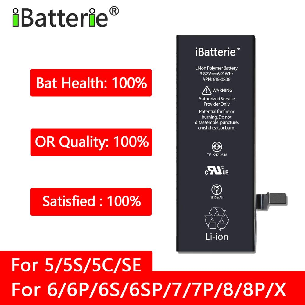 IBT Original Quality Battery for iphone 6 6s 7 8 replacement ip6 ip6s ip7 ip8 5S SE X 6sp 7Plus title=