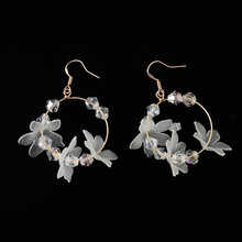 The Flower Earring of Temperamental Individual Character, Carve Patterns Act Role A Circle To Exceed Fairy