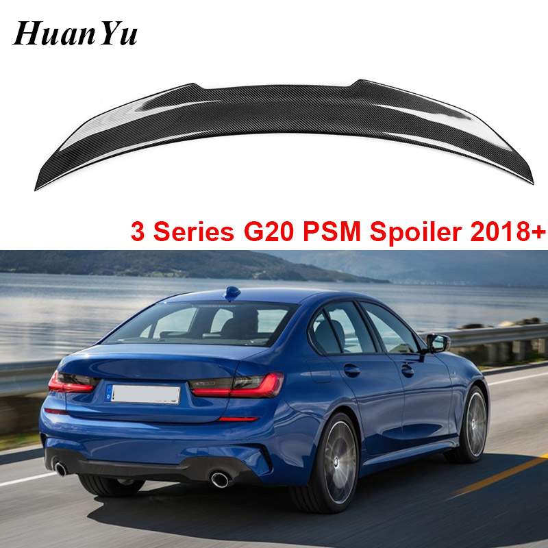 Carbon Fiber Rear Trunk Spoiler For BMW 3 Series G20 330i 340i GT PSM Type 2019+