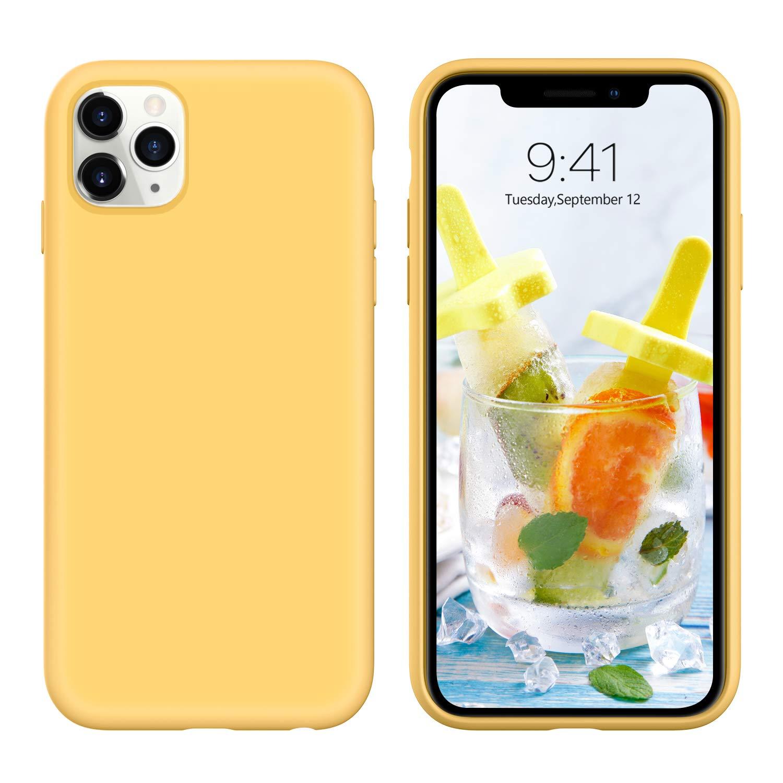 Мягкий Жидкий официальный силиконовый чехол для iPhone 11 Pro Max 8 Plus из микрофибры, Противоударная задняя крышка для iPhone X XR Xs MAX XS - Цвет: Цвет: желтый