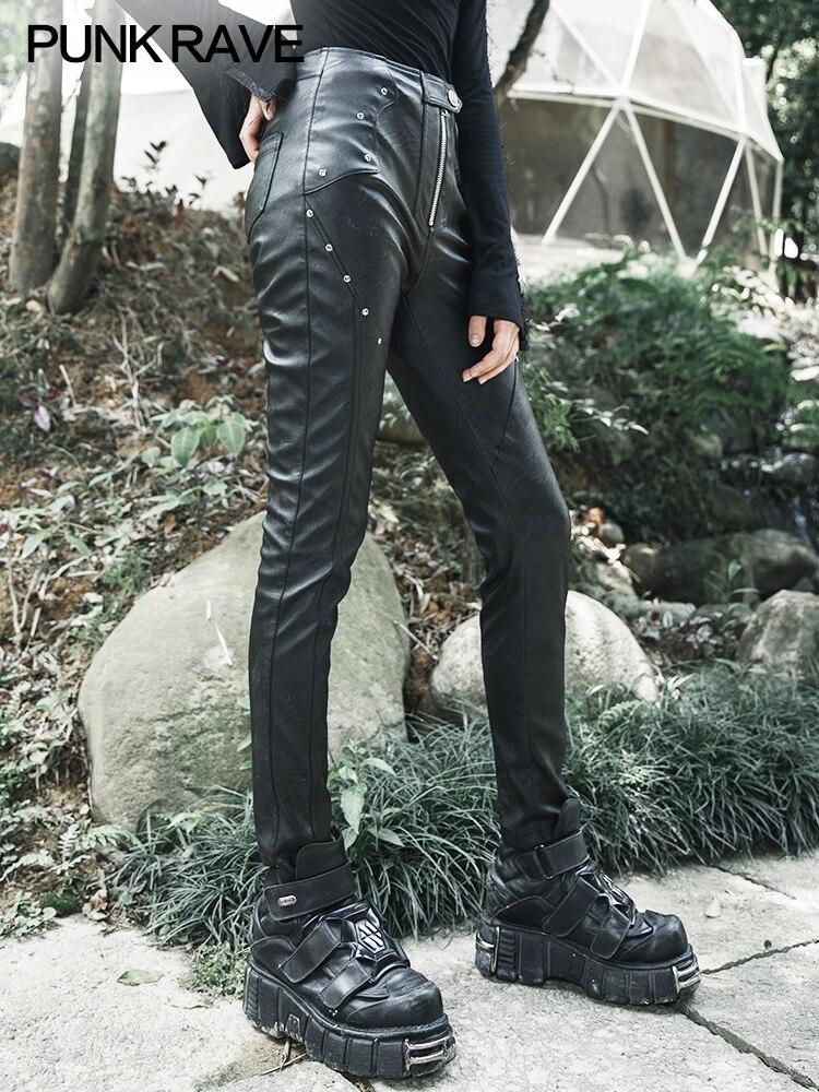 Новинка 2018, осенний стиль, женская одежда, дугообразный разрез, эластичные леггинсы, форма карандаша, девять точек, женские штаны черного цв... - 2