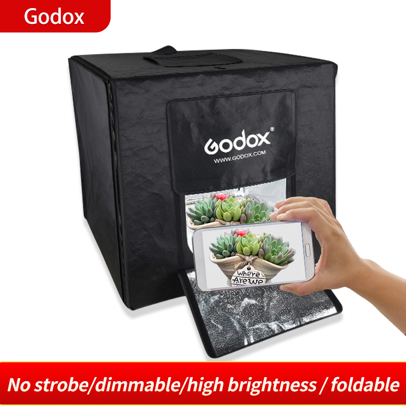 Godox LST60 60*60CM / LST40 40*40cm/LST80 80*80CM Photo Studio LED Tabletop Shooting Tent Portable Photography Light Softbox image