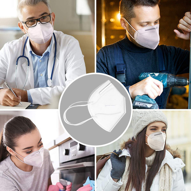 50 Pcs KN95 PM2.5 Anti-fog Protective Masks With filter 95% Respirator Reusable N95 Protective Mask ffp2 Flu Anti Infection Mask 4