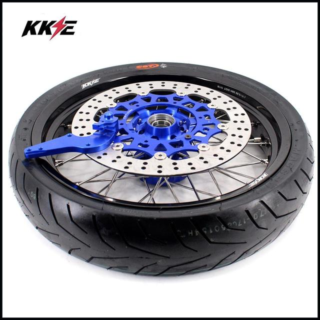 COMPLETE SUPERMOTO WHEELS & TIRES SET  2