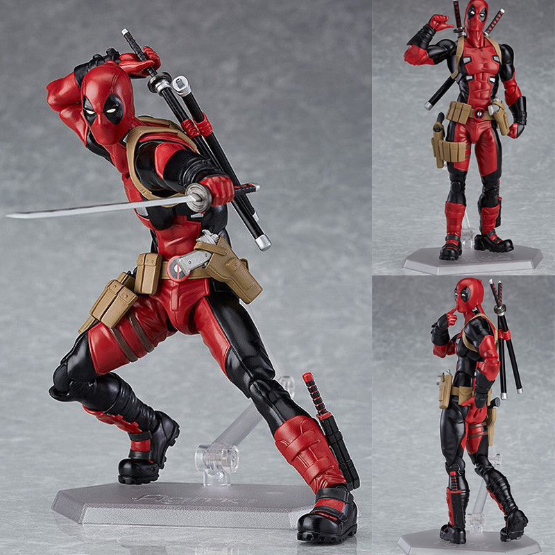 6inch Figma 353 Deadpool Marvel Hero Action Figure Collectible Model Toy Doll Gift
