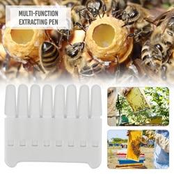 TTLIFE Beekeeping Queen Bee Royal Jelly Pen Scraper 8 Rows Fingers Holes Goods Rearing Kit Tools For Beekeeper Supplies