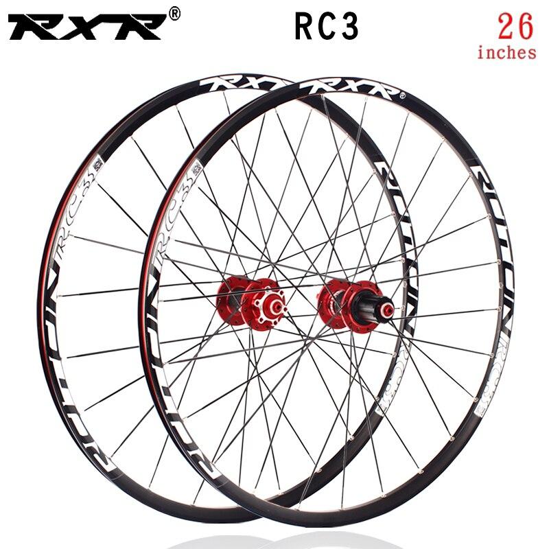 RXR 26//27.5//29er Thru Axle//QR MTB Wheels 7-11S Disc Brake Mountain Bike Wheelset