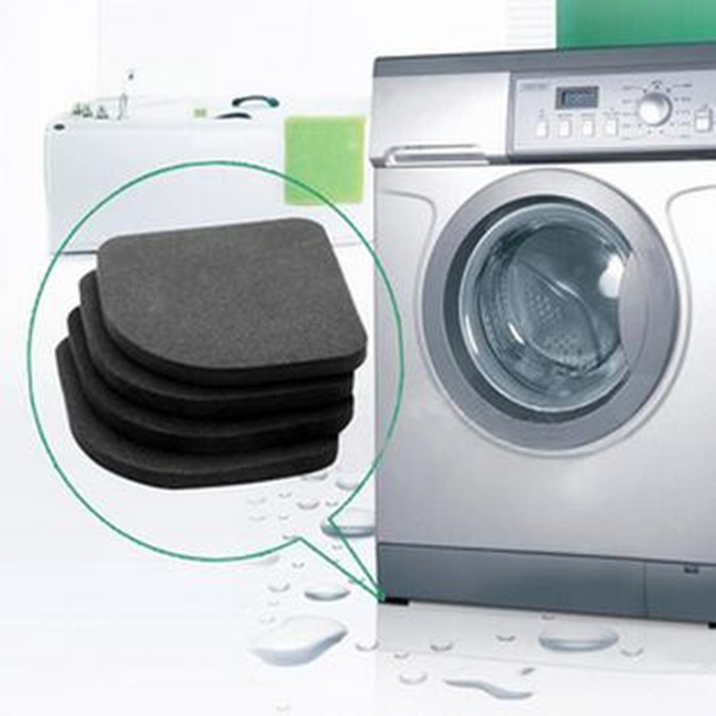 4pcs Non-slip Washing Machine Shock Pads Furniture Feet Protector Pads Anti-vibration Refrigerator Sofa Chair Leg Protection