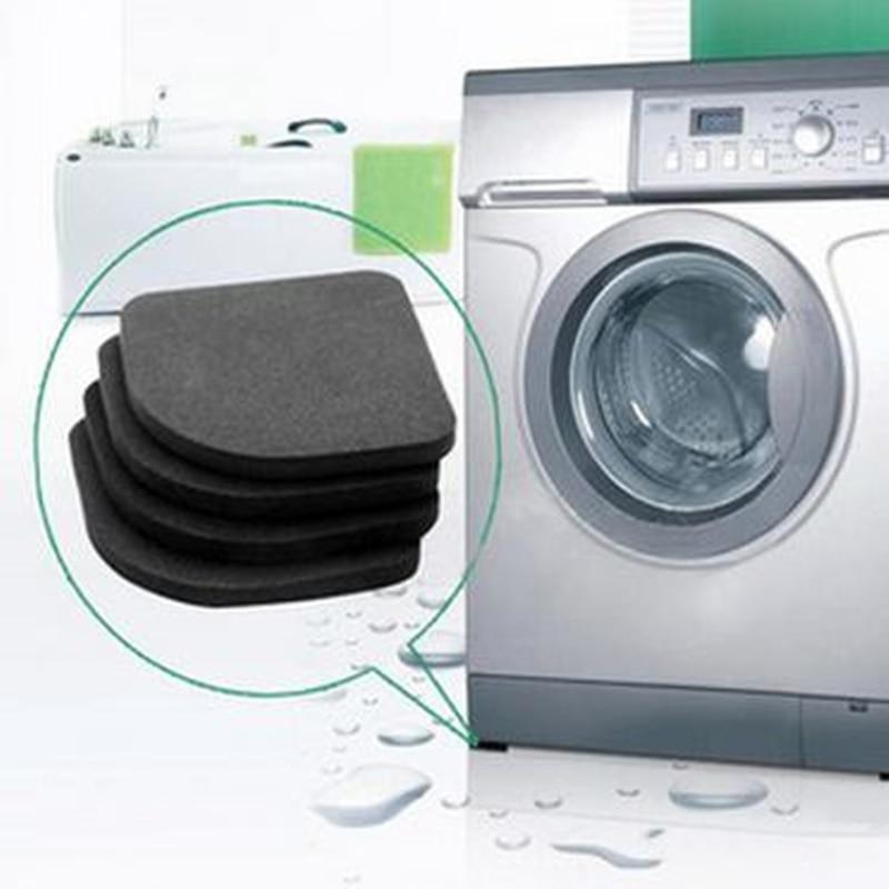 4pcs Non-slip Washing Machine Shock Pads Furniture Feet Protector Pads Anti-vibration Refrigerator Sofa Chair Leg Protection