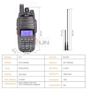 Image 2 - TYT TH UV8000D Walkie Talkie 10 KM Dual Band VHF UHF 10W Radio Comunicador 10 km 3600mAh Kreuz band Repeater Funktion tyt radio