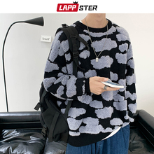Pullover LAPPSTER Sweaters Couple Oversized Harajuku Cloud-Stereoscopic Men Fashions