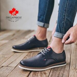 Image 5 - Giày Casual Nam Nam Thời Trang Phối Ren 2020 Xuân & Thu Thoải Mái Da Cao Cấp Sang Trọng Nam Người Đàn Ông Phong Cách Doanh Nhân chaussure Homme