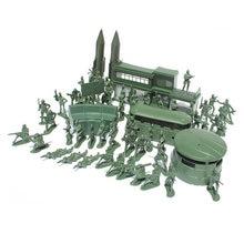 Модель солдата высотой 5 см 56 шт военная Песочная коробка игра