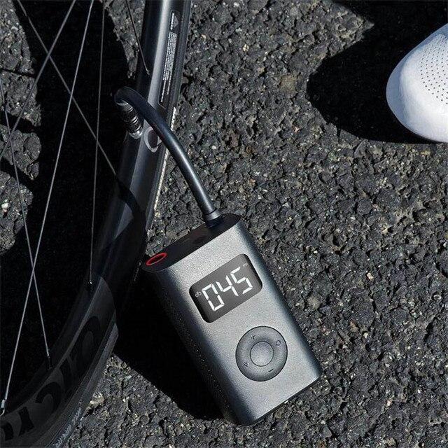 Nuevo inflador Xiaomi Mijia, neumático Digital inteligente portátil con detección de presión LED, bomba eléctrica para bicicleta, motocicleta, coche, Fútbol MI