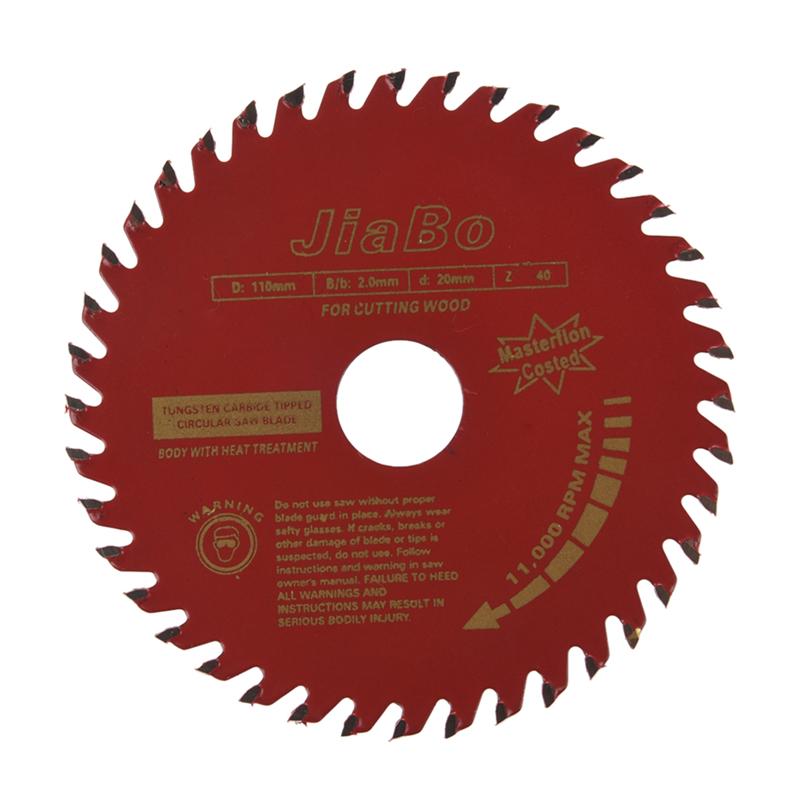 110mm Diameter 40T Rotary T.C.T Metal Saw Blade For Wood Cutting