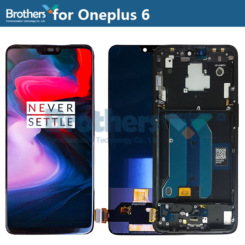 LCD Screen For Oneplus 6 LCD Display For Oneplus 6 Touch Screen Assembly Touch Digitizer TFT Screen Phone Replacement Test Work