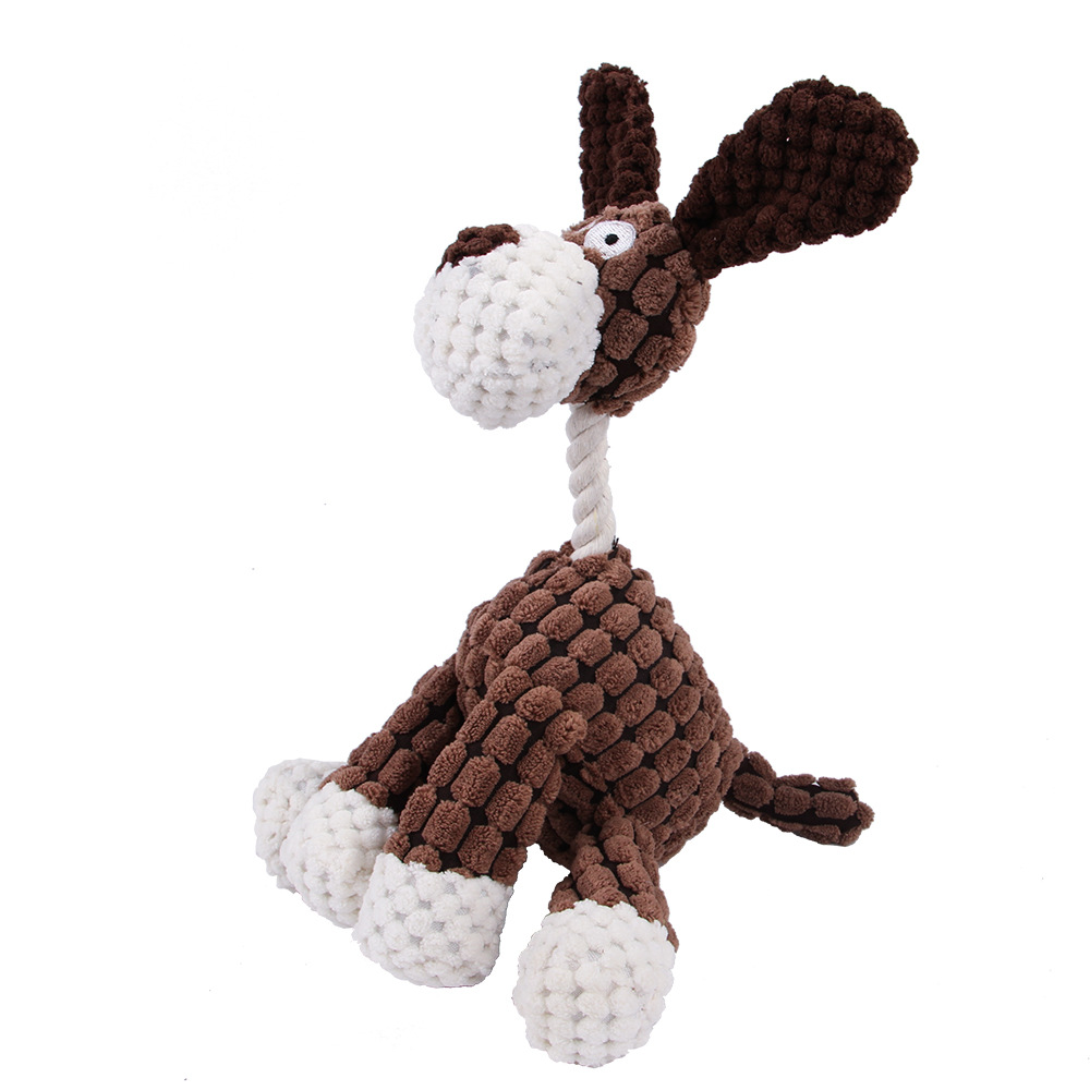 Dog Toys Plush Squeak Pet Squeak Toys for Small Dogs Cartoon Donkey Puppy Pet Toy Not Bite Resistant Sound Toy Dog Accessories img3