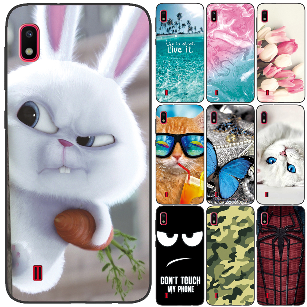 GUCOON Silicone Cover For Samsung Galaxy A10 A105 A20e Case Soft TPU Protective Phone Case Cartoon Wolf Flowers Bumper Shell